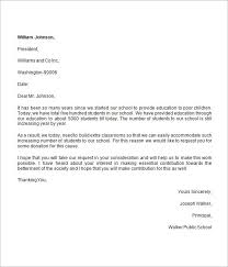 business donation letter template best template examples