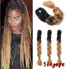 braided extenions hairstyles 1 bunch 2460cm jumbo braids hair extension african braided hair