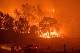 California Wildfire Database by Thousands Of Californians Flee Homes After Detwiler Fire Doubles