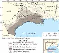 A Map Of The Us Bossier Formation Assessment Map