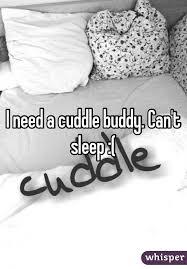 Cuddle Buddy Meme - need a cuddle buddy can t sleep