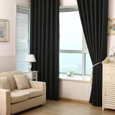 Living Room Curtains Blinds Online Get Cheap Black Blinds For Living Room Aliexpress Com