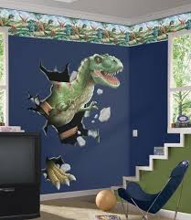 boys room with dinosaurs wall mural bedroom enhancement with