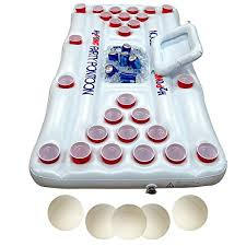 Pool Beer Pong Table by H2pong Inflatable Beer Pong Table With Built In Cooler Includes 5