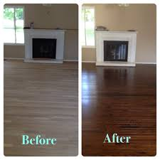 Refinished Hardwood Floors Before And After Chocolate Stained Hardwood Floors Been There