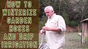 how to winterize your irrigation lines and garden hoses youtube