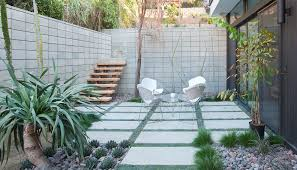 step down patio patio modern with concrete pavers glow in the dark