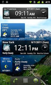 clock and weather widgets for android world weather clock widget android app review world