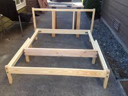 materials fjellse full size bed frame sutlan florvag wood