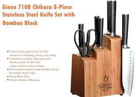 Ginsu Kitchen Knives Ginsu Chikara Image For Stainless Steel Knife Set With