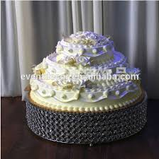 gold round square cake stand metal type crystal beaded cake stand