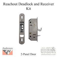 Patio Door Lock Parts Style Deadlock Andersen Reachout 1982 2006 Gliding Patio Door