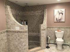 Open Shower Bathroom Design Corner Doorless Shower Design Ideas Pictures Remodel And Decor