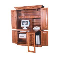 Black Armoire Furniture Pine Computer Armoire With Black Door Handle For Home