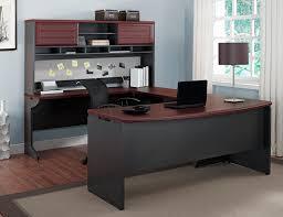 Stylish Office Office Design Office Desk Altra Pursuit U Shaped Desk With Hutch