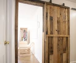 Indoor Sliding Barn Doors by Pallet Sliding Barn Doors 5 Steps