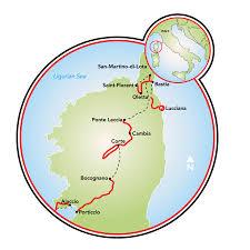 Corsica Map Corsica A Guided E Bike Tour France Tripsite