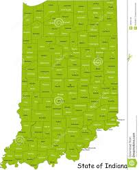 Indiana Usa Map by State Of Indiana Stock Photo Image 10256140
