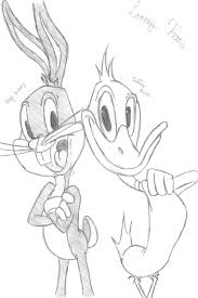 daffy duck and bugs bunny by marlinparty on deviantart