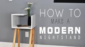 modern night table how to make a modern nightstand diy youtube
