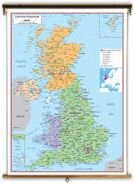 Aberdeen Washington Map by United Kingdom Political Educational Wall Map From Academia Maps