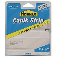 shop homax white caulk strip at lowes com