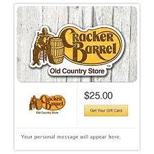 cracker barrel gift card cracker barrel gift cards configuration asin e mail
