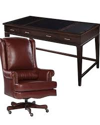 hekman desk leather top office set w ash leather top table desk by hekman he 79188 set