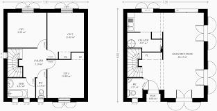 plan maison etage 3 chambres plan de maison a etage 3 chambres frais plan maison 80 m2
