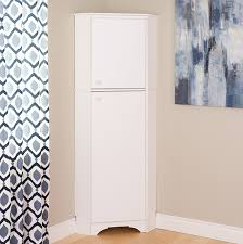amazon com prepac tall 2 door corner storage cabinet in elite