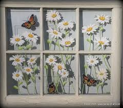 Vintage Windows For Sale by Panes Of Art Barn Quilts Hand Painted Windows Window Art