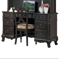 Double Pedestal Desk With Hutch by Homelegance Cinderella Writing Desk W Hutch U0026 Chair In Cherry