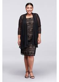 r m richards plus size dresses linear lace plus size dress with sheer jacket david s bridal
