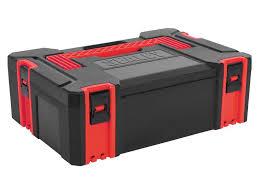 tool box sealey ap8150 plastic stackable click together toolbox medium
