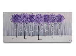 Lavender Home Decor Large Modern Home Decor Purple Lavender Abstract Tree