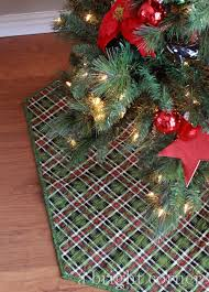 plaid tree skirt a bright corner quilted christmas tree skirts