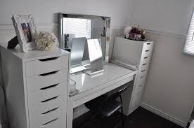 Ikea Micke Desk Makeup Sample Furniture Vanity Desk Ikea Hampedia