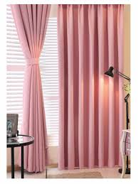 solid pink ivory princess full black out blinds slide fabric