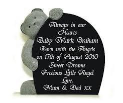 baby plaques childs memorial plaque gravestones