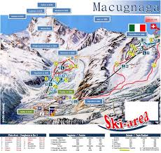 Piste Maps For Italian Ski by Piste Maps To Monterosa Thealps Com