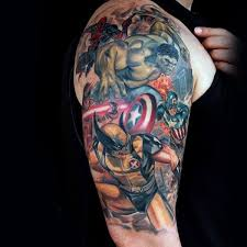 Bob Dylan Tattoo Ideas 69 Terrific Wolverine Tattoo Designs That Inked With Colored Ink