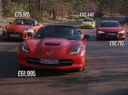 corvette vs audi r8 corvette stingray vs porsche 911 and audi r8 business insider