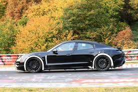 Spyshots 2019 Porsche Mission E Electric Sports Sedan Tackles The