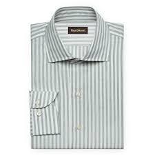 light grey dress shirt light grey wide stripe dress shirt paul stuart