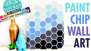 how to get a paint chip off the wall diy paint chip wall art marianne u0027s 30 minute craft challenge