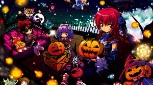 halloween party background anime halloween party desktop background hd 1920x1200 deskbg com