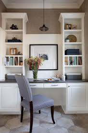 best 25 kitchen desks ideas on pinterest kitchen office nook a stunning blue and white tiled backsplash and floor to ceiling cabinets combined with