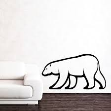 Stickers Muraux Nuages Blancs by Stickers Muraux Animaux Sticker Ours Blanc 1 Ambiance Sticker Com