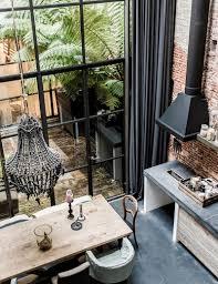 fenetre metal style atelier inspiration des portes vitrées style atelier frenchy fancy