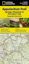How To Read A Topographic Map Amazon Com Appalachian Trail Springer Mountain To Davenport Gap